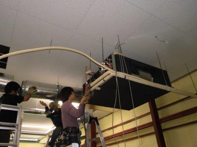 ④室内冷媒配管工事