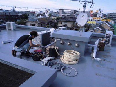 ⑤室外冷媒配管工事