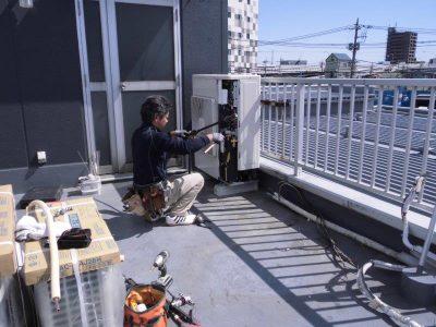 ⑤室外配管工事1