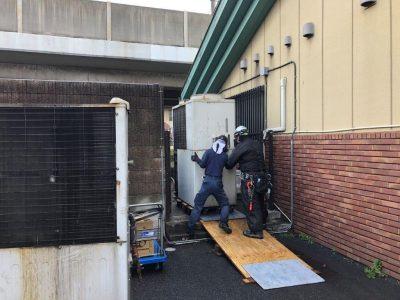 ⑦室外機撤去2(GHP)重量鳶運搬